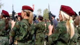Slavic girls in military )