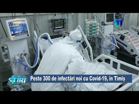 TeleU: Peste 300de infectări noi cu Covid-19, în Timiș