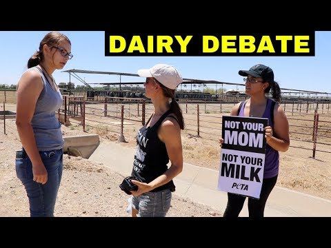 LOCAL WOMAN STOPS BY OUR DAIRY PROTEST