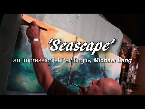 Painting 'Seascape' Washes,Under painting, Layers, Technique, How to DEMO