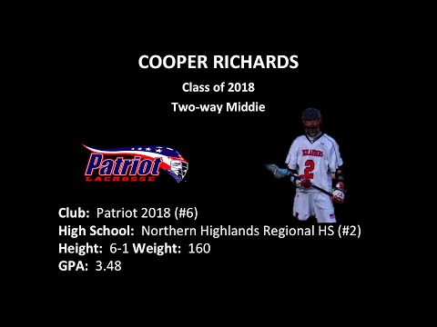 Cooper Richards, MID (2018) Lacrosse Summer 2015 Highlights