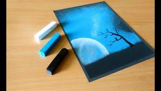 Soft Pastel Drawing    Night Sky    Beginner's Tutorial screenshot 2