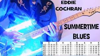 Eddie Cochran Summertime Blues Guitar Lesson with Chords and TAB Tutorial