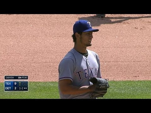 Darvish reaches back for a 55 mph curve