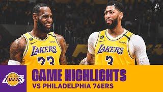 HIGHLIGHTS   Los Angeles Lakers Vs. Philadelphia 76ers