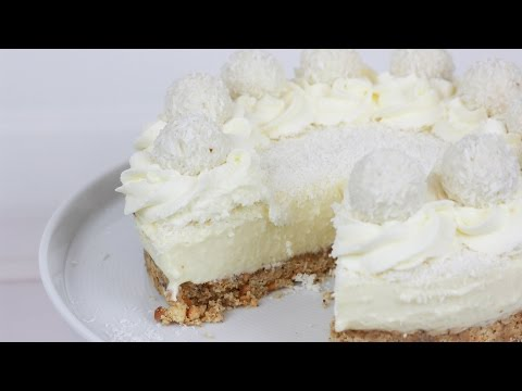 Raffaello Torte ohne Backen - No Bake Raffaello Cheesecake