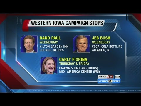 Republican presidential candidates expected in Iowa after debate