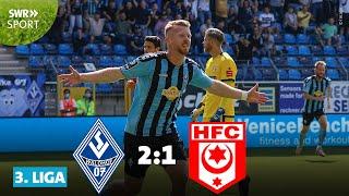 3. Liga: Zwei Traumtore! Waldhof gewinnt 2:1 gegen den Halleschen FC | SWR Sport