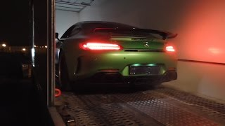 Exclusive New Mercedes AMG GT C Roadster and GTR leaves Munich dealership | Start Up, Revs + Driving