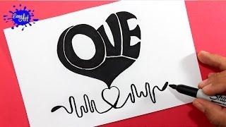 Como dibujar un corazon/ how to draw Heart/ AMOR