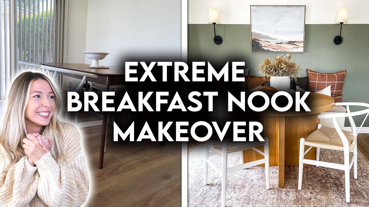 Download EXTREME BREAKFAST NOOK MAKEOVER | DIY IKEA BENCH SEAT HACK