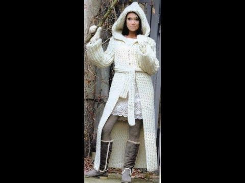 Длинные Женские Вязаные Кардиганы Спицами - 2019 / Women's Long Knit Knit Cardigans