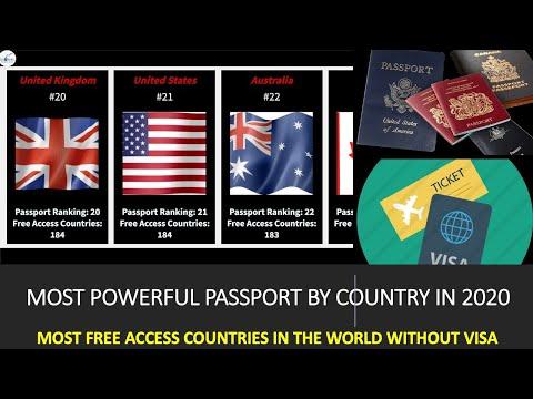 World's Most Powerful Passport Rankings 2020!!! Best Passport in the world!!! #passportrankings