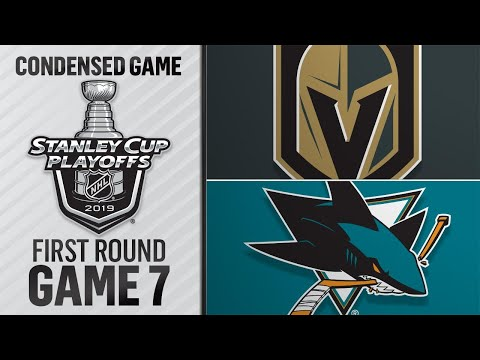 04/23/19 First Round, Gm7: Golden Knights @ Sharks