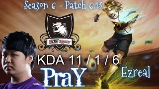 ROX PraY EZREAL ADC vs SIVIR - Patch 6.13 KR Ranked | League of Legends