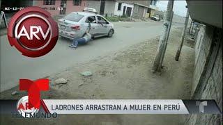 Delincuentes arrastraron en su auto a mujer que robaron | Al Rojo Vivo | Telemundo