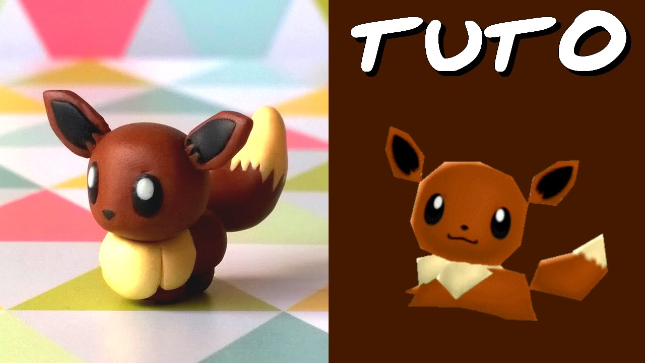 tuto fimo evoli eevee de pok mon rumble world youtube. Black Bedroom Furniture Sets. Home Design Ideas