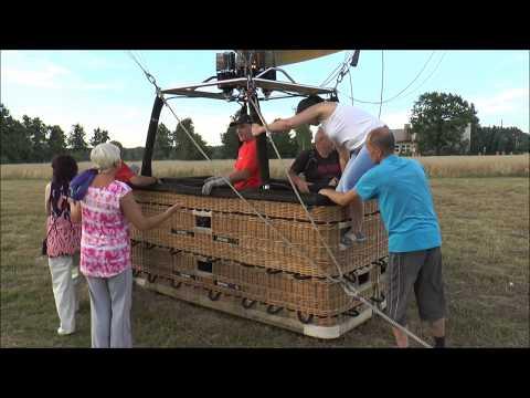 Łambinowice lot balonem z 10  pasażerami + 2 osobową załogą