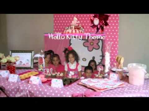 Easy DIY Hello kitty birthday party decoration ideas YouTube