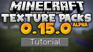 TEXTURE PACKS in 0.15.0 - How To Install Resource Packs in MCPE Beta - Minecraft PE (Pocket Edition)