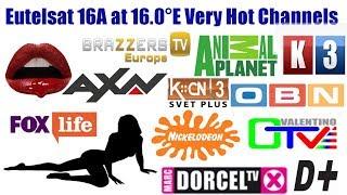 Eutelsat 16A at 16.0°East Full Channel List & Dish Setting    Adult Channels