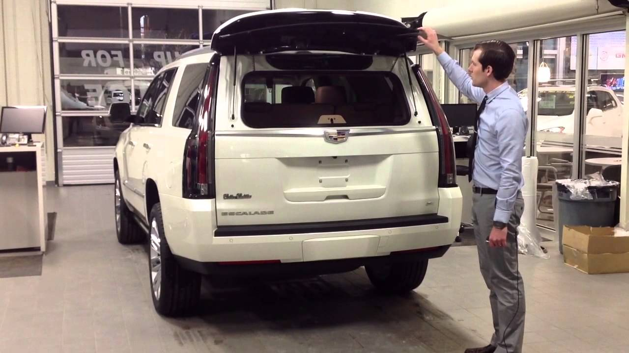 cadillac escalade 2015 white. 2015 cadillac escalade platinum niagara review of youtube white