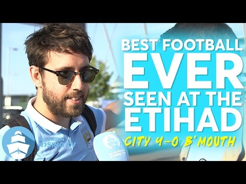 Best Football EVER at the Etihad? | Manchester City 4-0 Bournemouth