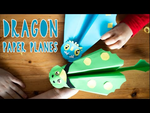 DIY HOW TO TRAIN YOUR DRAGON PAPER PLANES // Quick & Easy craft for kids