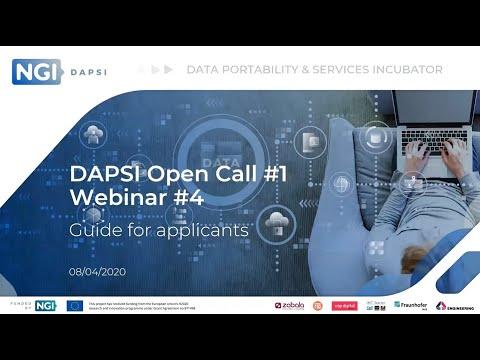 DAPSI Open Call #1 Webinar #4