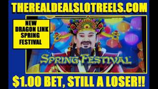 😡 FAIL 🐉 DRAGON LINK'S NEW GAME SPRING FESTIVAL HATES THE REAL DEAL SLOT REELS SHOWS NO LOVE 💔