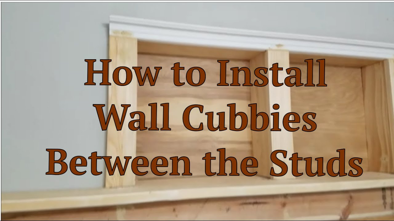 Lighting Basement Washroom Stairs: How To Install Wall Cubbies Between The Studs Process