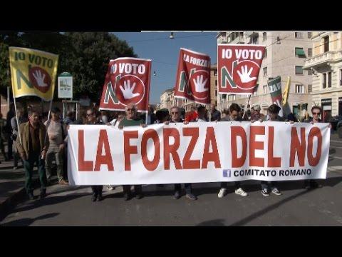 Italians Protest against Constitutional Referendum