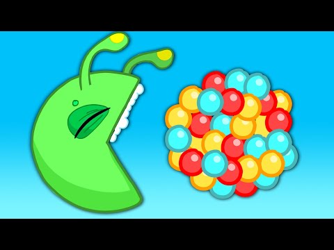 Learn the colors with Pacman for kids & Groovy The Martian educational cartoons & Nursery Rhymes