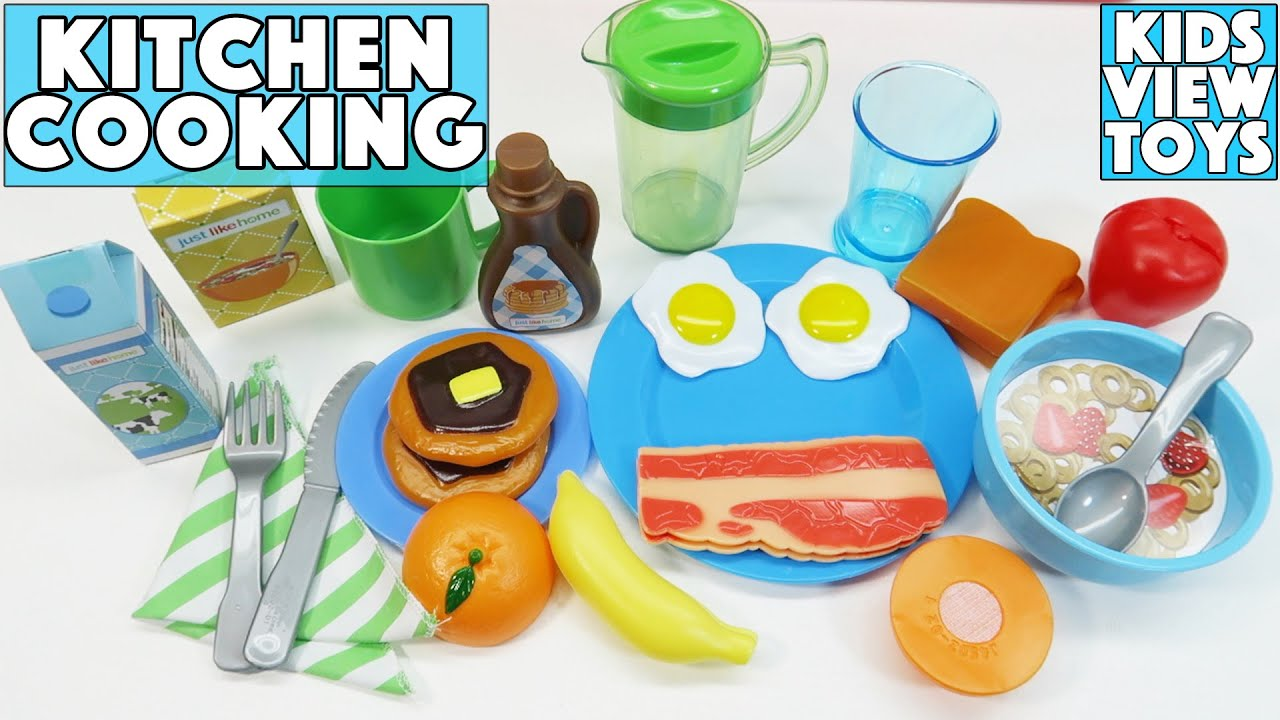 KITCHEN TOYS FOR CHILDREN | BREAKFAST COOKING PLAYSET | LITTLE TIKES ...