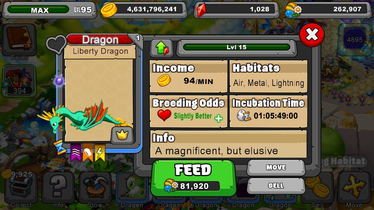 How To Breed The Liberty Dragon In Dragonvale Youtube