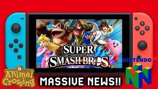 Massive News: Smash Bros Switch New Evidence- New Trademark for Animal Crossing Switch & N64 Game