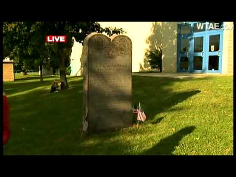 Connellsville Area Junior High School covers up Ten Commandments plaque