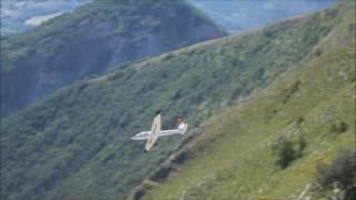 filmato slope soaring rc swift s1 monte catria 07 2016
