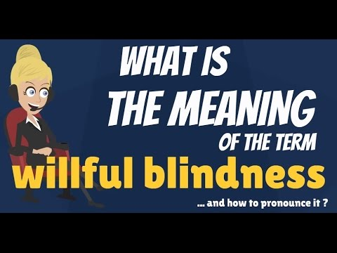 What Is Willful Blindness What Does Willful Blindness Mean Willful Blindness Meaning Explanation