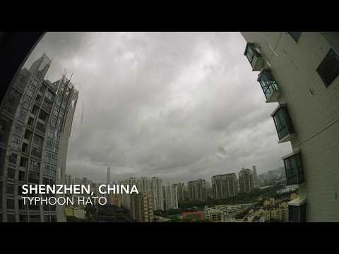 Typhoon Hato - Shenzhen - China, Timelaps Typhoon Hato 4K Video.