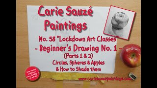 No.58 Lockdown Art Classes - Beginner's Drawing No 1 - Circles, Spheres & Apples and How to Shade