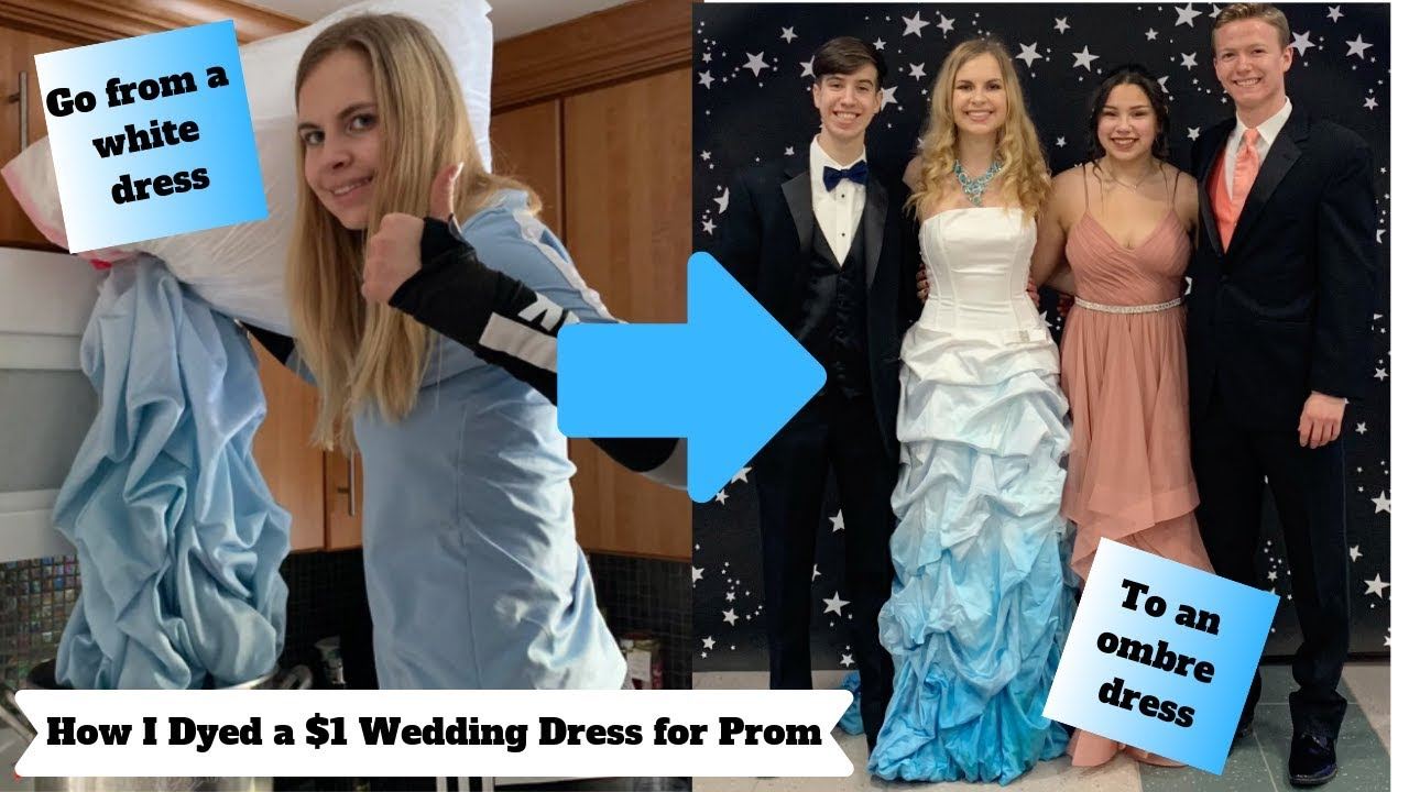 How I dyed a $1 wedding dress for prom