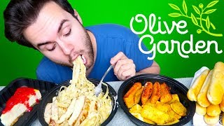 Olive Garden MUKBANG | Four Course Meal! Eating Show