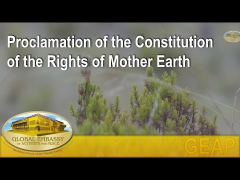 Proclamation of the Constitution of the Rights of Mother Earth | GEAP