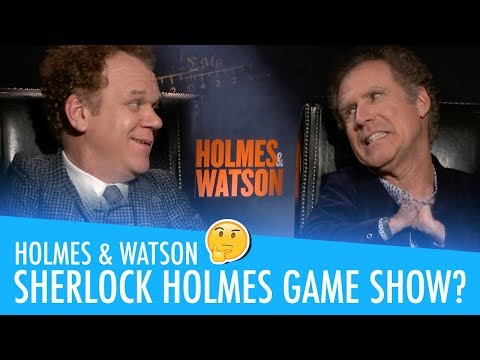Will Ferrell & John C Reilly chatting HOLMES & WATSON