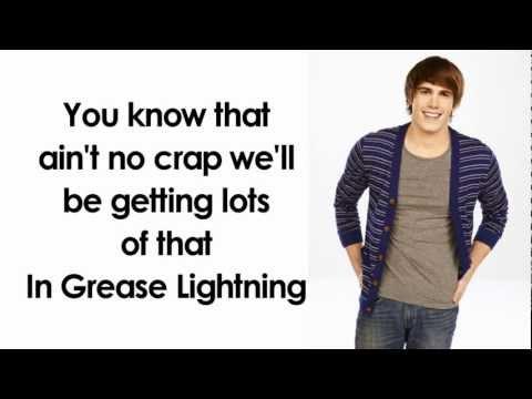 Glee -  Greased Lightning (Lyrics)