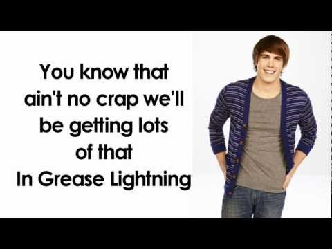 Glee -Greased Lightning (Lyrics)
