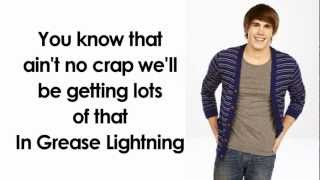 Glee -  Greased Lightning (Lyrics)