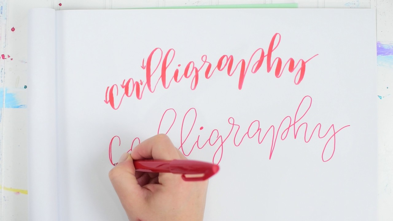 How To Do Faux Calligraphy In 3 Easy Steps Youtube