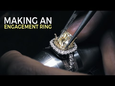 Making A Yellow Diamond Engagement Ring with Bobby White